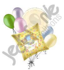7 pc Baby Shower Stuffed Animals Gender Neutral Balloon Bouquet Party Decoration