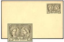 CANADA 1897 1¢ JUBILEE PSC ERROR NO HEADING UNIQUE P16b