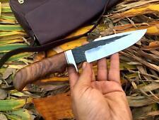 "10""INCHES CUSTOM HANDMADE 1095 HIGH CARBON STEEL HUNTING KNIFE /ROSEWOOD"
