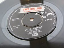 The Beatles 1976 UK 45 Hello Goodbye promotionnel factory sample NOT FOR SALE