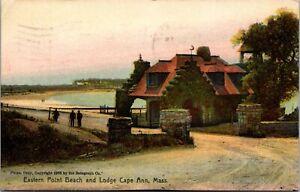 Postcard Eastern Point Beach and Lodge in Cape Ann, Massachusetts~132831