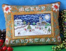Merry Christmas Mini Cushion Cross Stitch Kit, Sheena Rogers Designs