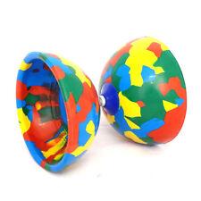 Multicoloured Jester Diabolo - Beach Jester Diablo - Medium Rubber Diabolo Only