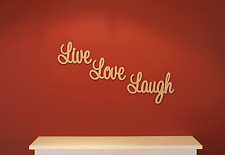 Wooden Words Love Live & Laugh. Ready 2 Decorate