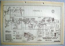 ITT/GRAETZ Moderato 6617, Grazioso 4617 Schaltplan auf Transparentpapier