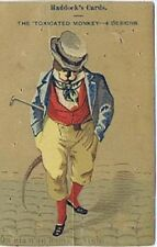"""Haddock's Cards, """"Toxicated Monkey"""", Victorian Trade Card"""