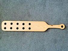 """US long Style 23"""" x 4"""" Punishment Paddle with holes (cane)"""