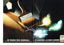 PUBLICITE ADVERTISING 126  1985  Xyladécor (2p) traitement du bois parasites