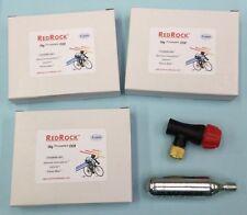 Redrock Bike Tire Inflator & 3 packs of 5 16 gram Threaded CO2 Cartridges