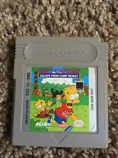 Bart Simpson's Escape From Camp Deadly (Nintendo Game Boy)