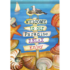 Carson Homes Garden Flag Double Sided 13x18 inch Signs of Paradise