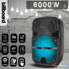 8� Bluetooth Speaker Party Lights Speaker Karaoke Machine 6000W