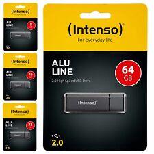 Clé USB Intenso Ultra Line Anthracite 8 16 32 64 Gb Go USB 2.0 pour photo vidéo