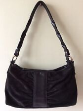 HOTTER real leather and suede black soft slouchy underarm shoulder bag