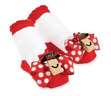 Mud Pie Polka Dot Bow Monkey Socks  0-12 Months - DISCONTINUED