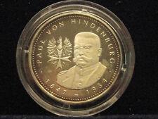 Medaille Silber Motiv Paul von Hindenburg   Silber % 999 Nr