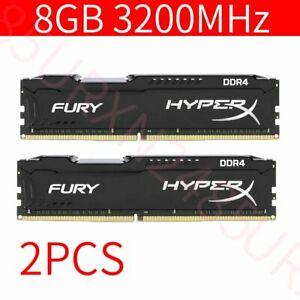 16GB 2x 8GB DDR4 3200MHz PC4-25600 CL16 288Pin Desktop Memory For HyperX Fury