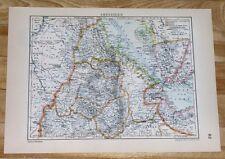 1929 ORIGINAL VINTAGE MAP OF ABYSSINIA ETHIOPIA ERITREA DJIBOUTI YEMEN AFRICA
