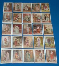 1927 W.D. & H.O. Will's English Period Costumes Complete Set of 25 Cards