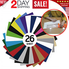 PVC Heat Transfer Vinyl 26 Sheets HTV Assorted Colors Bundle Variety 10 x 12 In