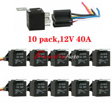 10 Pack 12V 30/40 Amp 5-Pin SPDT Automotive Relay with Wires & Harness Socket