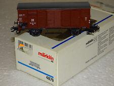 MARKLIN 4879 SUPERBE WAGON COUVERT A ESSIEUX DE LA DR EN BOITE  HO