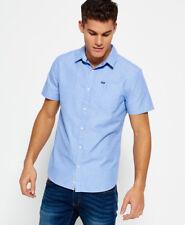 Superdry Mens Modern Classic Short Sleeve Shirt Sky Blue LZT X-large