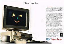 Publicité Advertising 1989 (2 pages) Ordinateur Micro Ps/2 IBM