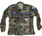 Vintage Civil Air Patrol Camo Shirt With Patches And C.A.P Pin, Red Cross, Wings