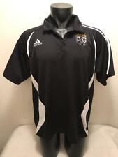 Columbus Crew MLS Adidas Clima Lite Soccer Black Polo Collared Shirt Mens XL