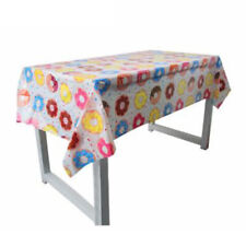 Donut Time Plastic Banquet Tablecloth 110 x180cm 1st Birthday Party .dr