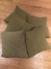 5 x Green Chenille Waffle Weave Cushions (NEXT)