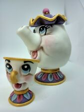 Chip and Mrs.Potts Handmade edible cake toppers Beauty and beast unofficial
