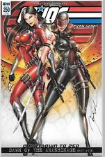 signed 1:10 virgin variant G.I JOE #4 1st print IDW COMIC CHUCK DIXON /& ATKINS
