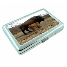 Scenic Alaska D8 Silver Metal Cigarette Case RFID Protection Wallet Buffalo Calf