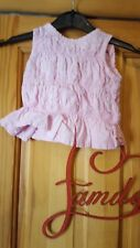 baby girls pink checked sleeveless top size 6/9 months