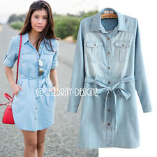 Cotton Blend Casual Dresses for Women with Buttons