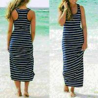 Women Summer Boho V Neck Long Maxi Evening Party Cocktail Beach Dress Sundress