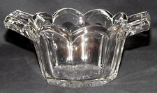 Art Deco Glass 'Chippendale' Style Square Open Handled Sugar Bowl
