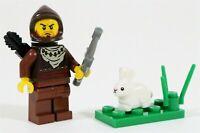 LEGO KNIGHTS CASTLE HUNTER PEASANT MINIFIGURE RABBIT - MADE OF GENUINE LEGO