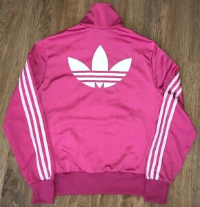 Adidas Originals womens Pink tracksuit track top jacket sweater size 38