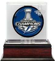 Tampa Bay Lightning 2020 Stanley Cup Champions Mahogany Hockey Puck