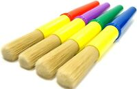 Chubby Paint Brush 4 Set Hog Bristle Hair Kids Painting Chunky Brushes Easy Grip
