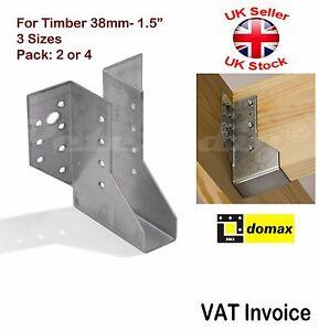 "Heavy Duty Face Fix Joist Hangers Hanger for Timber 38mm - 1.5"" Pack: 2 or 4"