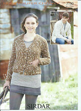 Ladies / Gents Cardigan in Sirdar Husky Super Chunky Yarn, Knitting Pattern 7190