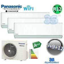 3S TRIO Split R32 ETHEREA XKE PANASONIC Klimaanlage WiFi 2,5+2,5+3,2 KW NEUE