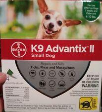 K9 Advantix Ii flea control and treatment for Small Dog 4-10 lbs 4 Pack Nib