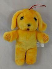 "Nanco Yellow Dog Plush Plush 7"" Hanging Ornament Polka Dots Stuffed Animal"