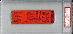 February 20 1973 New York Knicks NBA Champs Season / Blazers Full Ticket PSA 4