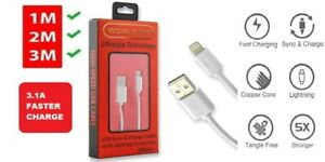 iPhone Fast Lightning USB Charge & SYNC USB Data Cable 3.1A for iPhone iPad iPod